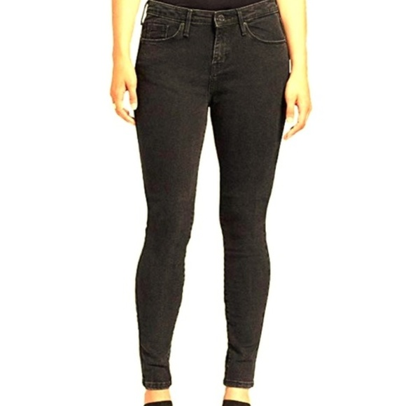 Mossimo Denim Leggings Super-Stretchy Mid-Rise Fitted Jeans Black Size 16 /& 18
